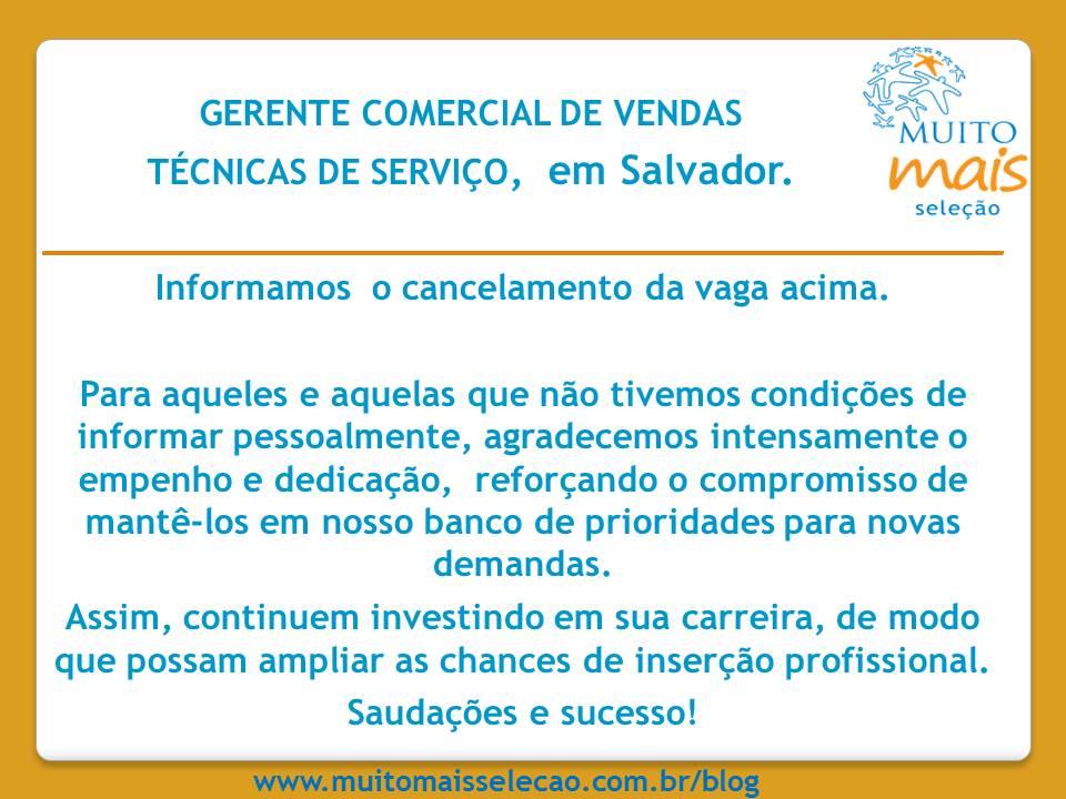 Aviso de cancelamento de processo seletivo gerente Comercial de ... 65872b47c6