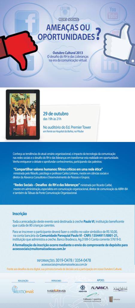 Folder Outubro Cultural- 2013